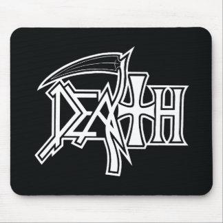 Logo on black mousepad