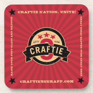 Logo on Red Coasters (set of 6)