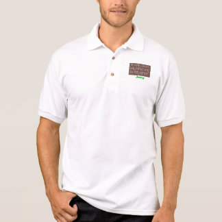 Logo or text polo shirt