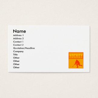 Logo Orange Hockey Business Card