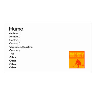 Logo Orange Hockey Double-Sided Standard Business Cards (Pack Of 100)