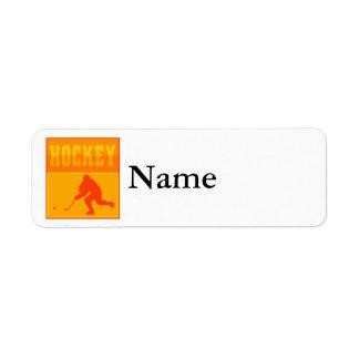 Logo Orange Hockey Return Address Label
