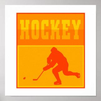Logo Orange Hockey Poster