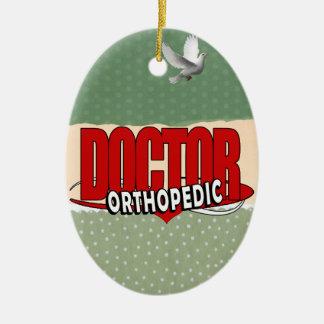 LOGO ORTHOPEDIC DOCTOR BIG RED LETTERS CERAMIC ORNAMENT