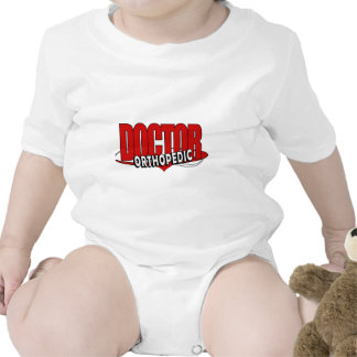 LOGO ORTHOPEDIC DOCTOR BIG RED LETTERS BABY BODYSUITS