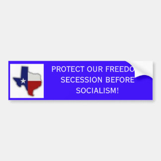 logo, PROTECT OUR FREEDOM! SECESSION BEFORE SOC... Bumper Sticker