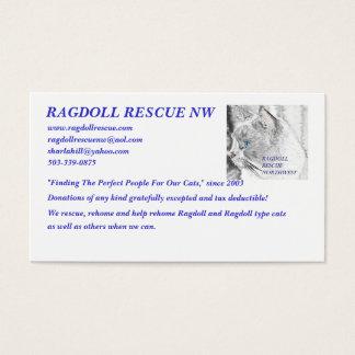 LOGO, RAGDOLL RESCUE NW, www.ragdollrescue.com,... Business Card