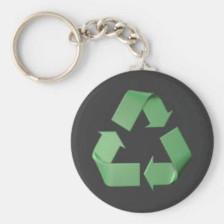 Logo recycling keychain