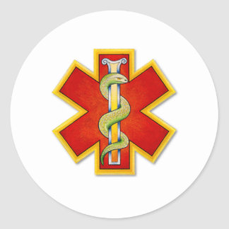 logo Red - Gold ornate Sticker