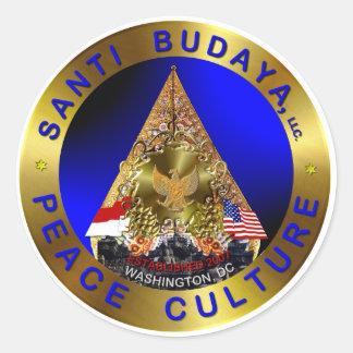 LOGO SANTI BUDAYA. LLC CLASSIC ROUND STICKER