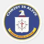 Logo the CIA Round Sticker