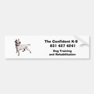 logo, The Confident K-9   631 427 4241, Dog Tra... Car Bumper Sticker