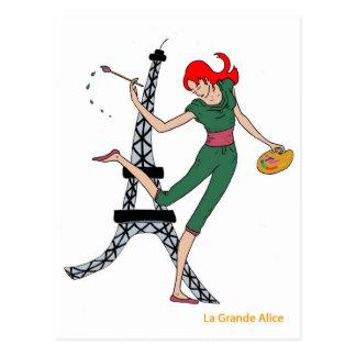 Logo the Large Alice Postcard