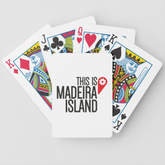 Logo This IS Madeira Island Bicycle Playing Cards