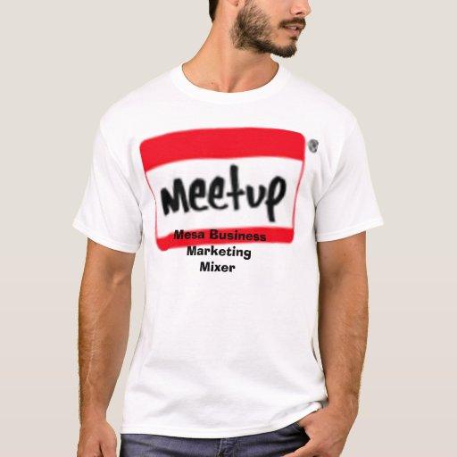 Logo tilt small 1 mesa business marketing mixer t shirt for T shirt advertising business