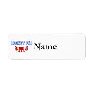 Logo - Toothless Hockey Fan Return Address Label