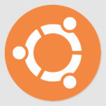 Logo Ubuntu Pegatina Redonda