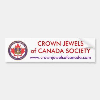logo-url.ai, CROWN JEWELSof CANADA SOCIETY, www... Car Bumper Sticker
