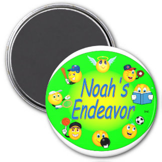 logo with tennis round magnet