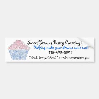 logoc, Sweet Dreams Pastry Catering LLC, Helpin... Car Bumper Sticker
