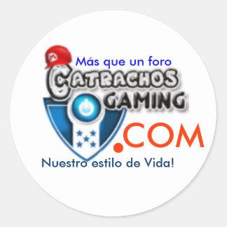 LogoCG2, Más que un foro, Nuestro estilo de Vid... Classic Round Sticker
