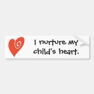 LogoColorNoText, I nurture my child's heart. Car Bumper Sticker