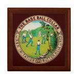 Logotipo 1868 del cuello del béisbol del vintage caja de recuerdo