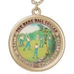 Logotipo 1868 del cuello del béisbol del vintage grimpola personalizada