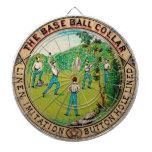 Logotipo 1868 del cuello del béisbol del vintage tablero de dardos