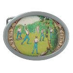 Logotipo 1868 del cuello del béisbol del vintage hebillas de cinturon ovales