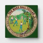 Logotipo 1868 del cuello del béisbol del vintage placas de plastico