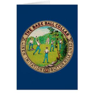 Logotipo 1868 del cuello del béisbol del vintage tarjeta de felicitación