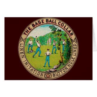 Logotipo 1868 del cuello del béisbol del vintage tarjeta pequeña