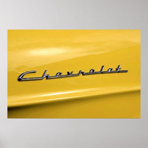Logotipo 1955 de Chevrolet Poster