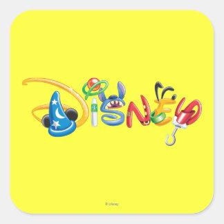 Logotipo 1 de Disney Pegatina Cuadrada