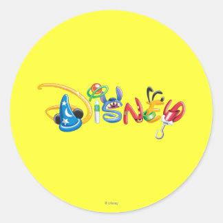 Logotipo 1 de Disney Pegatina Redonda