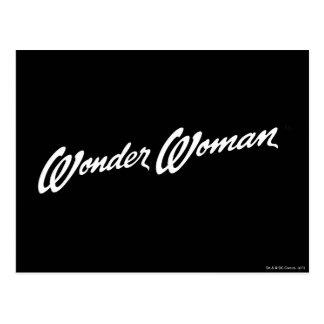 Logotipo 1 de la Mujer Maravilla B&W Postal