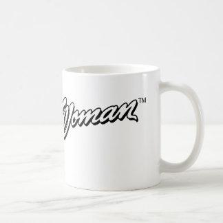 Logotipo 1 de la Mujer Maravilla B&W Taza De Café