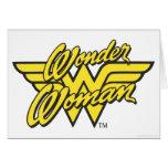 Logotipo 1 de la Mujer Maravilla Felicitacion