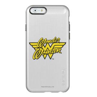 Logotipo 1 de la Mujer Maravilla Funda Para iPhone 6 Plus Incipio Feather Shine