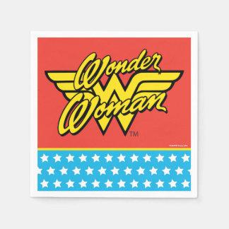 Logotipo 1 de la Mujer Maravilla Servilleta Desechable