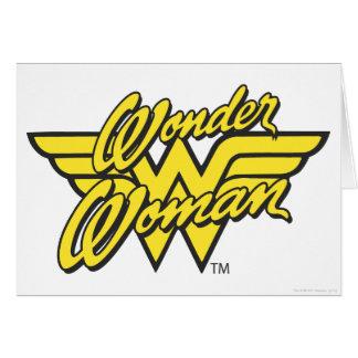 Logotipo 1 de la Mujer Maravilla Tarjeta De Felicitación
