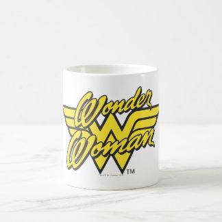 Logotipo 1 de la Mujer Maravilla Tazas De Café