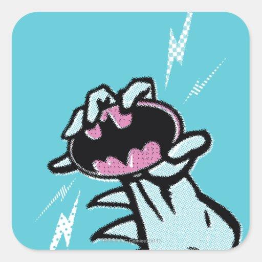 Logotipo 1 del patín de Batman Pegatina Cuadrada
