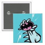 Logotipo 1 del patín de Batman Pin Cuadrada 5 Cm