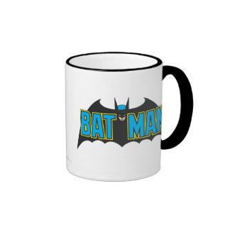 Logotipo 1 del vintage de Batman Taza A Dos Colores