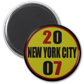 Logotipo 2007 de New York City Imán Redondo 5 Cm