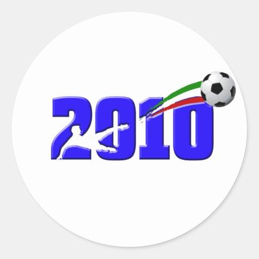 Logotipo 2010 de Azzurri del fútbol de Italia Pegatina Redonda