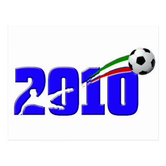 Logotipo 2010 de Azzurri del fútbol de Italia Postal