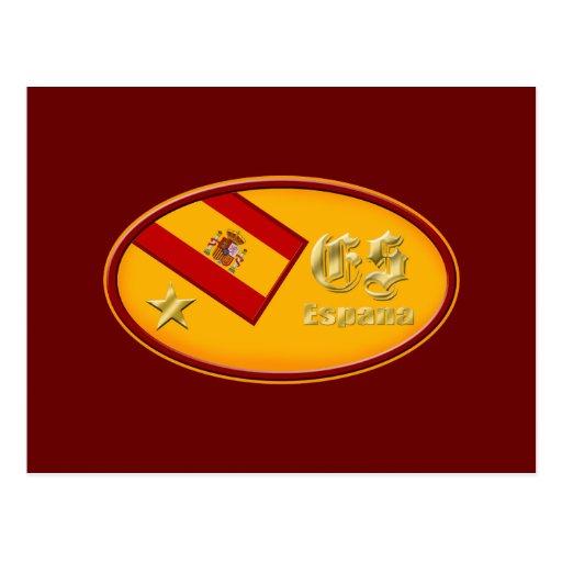Logotipo 2010 de España un emblema del óvalo de la Postal
